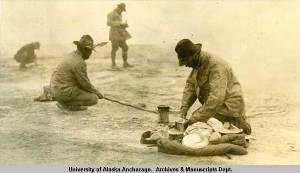 Cooking over Fumarole 5. 1919. UAA-hmc-0186-volume7-6283