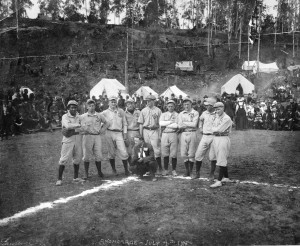 Baseball team, Anchorage, Alaska, July 4th, 1915. FIC Photograph Collection; Anchorage Museum, B1982.046.14.