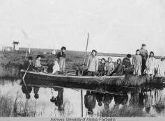 Moravian Mission Station at Bethel on the Kuskokwim River, circa 1910. UAF-1983-171-2, Vertical File Photograph Collections-Towns-Bethel, University of Alaska Fairbanks Archives.