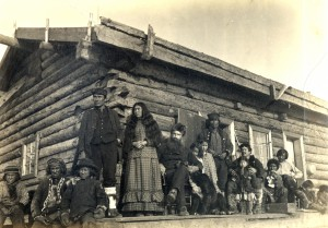 Fred Mercier's family at Nuklakahyet Trading Station, 1885. ASL-P277-017-037, Wickersham State Historic Sites Photograph Collection, Alaska State Library-Historical Collections.