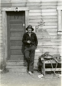 Bob Reeve at his shop in Valdez, Alaska. UAA-hmc-0396-14a-30, Russ Dow Collection, Archives and Special Collections, Consortium Library, University of Alaska Anchorage.
