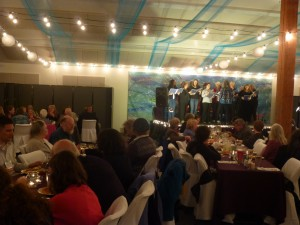 Enjoying a performance during banquet at the 2013 annual conference in Haines, Alaska. Photo by Anjuli Grantham.