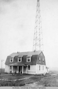 Telegraph station, Ft Gibbon, Tanana, Alaska, circa 1900. Photo by George M. Woods. UAF-1974-130-120,Edward R. McFarland Photographs, University of  Alaska Fairbanks Archives