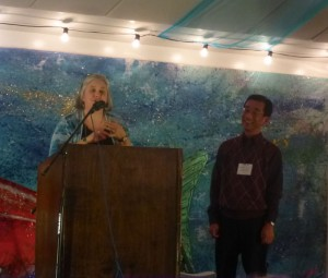Ron Inouye being honored at the 2013 AHS Annual Conference in Haines, Alaska.