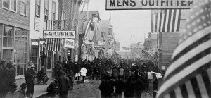 I WISH I WAS HERE BACK THEN: This is Front Street, Nome, Alaska on July 17, 1900, at the height of the largest ever Gold Rush in Alaska. From the Archives of the Carrie M. McLain Memorial Museum