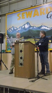 Willard Dunham accepts the Elva R. Scott Local Historical Society Award on behalf of our conference hosts, the Resurrection Bay Historical Society.