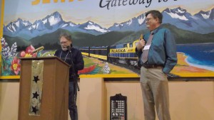 Larry Hibpshman received the Contributions to Alaska History Award.