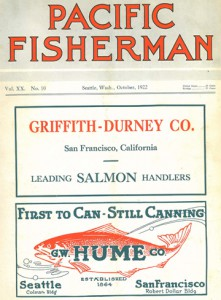 Pacific Fisherman for October 1922. Ads were featured on the cover through the 1930s.
