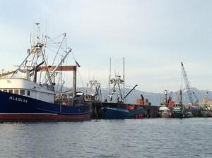 Tender ALASKAN at the dock.