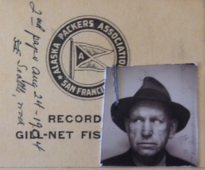 Fishermen's records kept by Alaska Packers Assoc.
