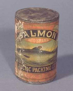 Arctic Packing Company salmon label.