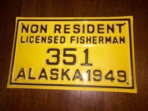1949 AK Non Resident License