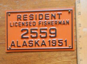 1951 AK Resident License